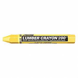 Lumber Crayon, Yellows Color Family, Hex Tip Shape, -20°F Min  Temp , 12 PK