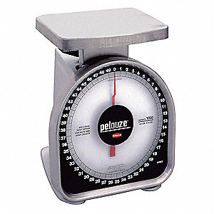 Mchncl Portion Control Scale,50 lb. Cap.