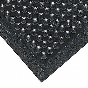 Antifatigue Mat, Rubber, 3 ft. x 2 ft., 1 EA