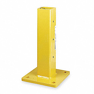 "Inline Post, Steel, Single Guard Rail Levels, 18-1/2"" Post Height"