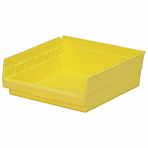 Shelf Bin,11-5/8 In. L,4 In. H,Yellow