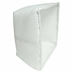 Cube Filter,3-Ply,Polyester,12x24x15 in.