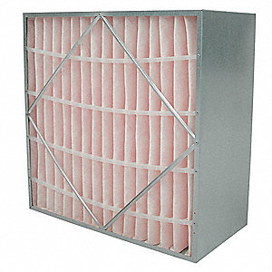 24x24x12 MERV 11 Rigid Cell Filter None Header Galvanized Steel