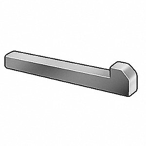 "2-1/2"" Steel Tapered Gib Head Machine Key with Plain Finish"