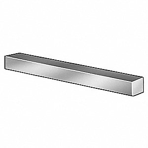 "72"" 18-8 Stainless Steel Undersized Key Stock with Plain Finish"