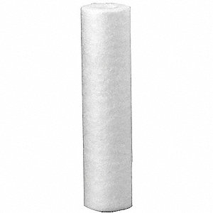 Spun Bonded Filter Cartridge, 10 Microns, Polypropylene Filter Media, 8 gpm Flow Rate