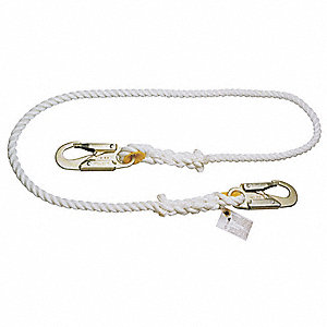 Restraint Lanyard,6 ft.,310 lb,Poly Rope