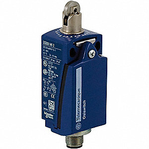 Plunger, Roller General Purpose Limit Switch&#x3b; Location: Top, Contact Form: 1NC/1NO, Horizontal Movem