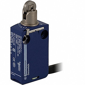 Plunger, Roller General Purpose Limit Switch; Location: Top, Contact Form: 1NC/1NO, Horizontal Movem