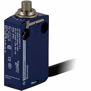 Miniature Limit Switch, 240VAC/DC Voltage Rating, 6 Amps, Top Actuator Location