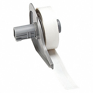 "White Polyester Label Tape Cartridge, Glossy Polyester Label Type, 50 ft. Length, 1/2"" Width"