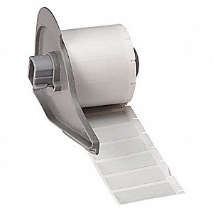 "Metallized Polyester Label Cartridge, Silver, 1-1/2""W x 1/2"""