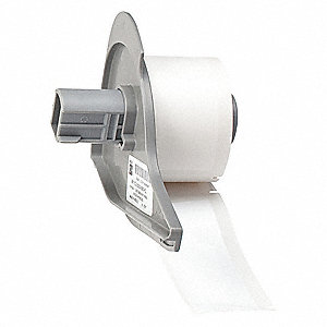 Label Cartridge,White,Polyester,3 In. W