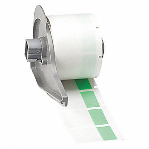 "1""H x 1""W Green on Translucent Self Laminating Vinyl Cartridge Label"
