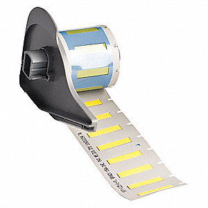 "Yellow, 100 Labels per Roll  15/64"" H x 1-1/64"" W, 1 EA"