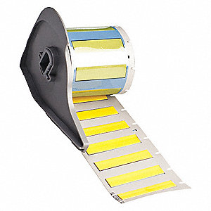 "Yellow, 100 Labels per Roll  7/16"" H x 1-49/64"" W, 1 EA"