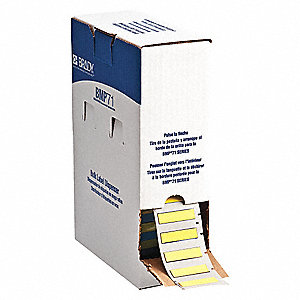 Cartridge Label,Yellow,1-13/17 In. W