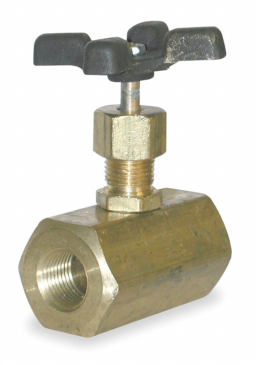 Needle Valve, 1/4 in NPT Valve Inlet Port, 5000 psi, Directions Controlled : 1