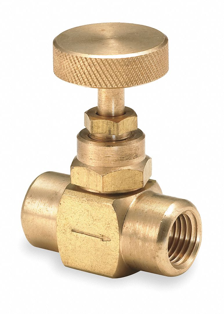 Needle Valve, 1/4 in NPT Valve Inlet Port, 600 psi, Directions Controlled : 1