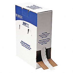 "White, 5000 Labels per Roll  3/4"" H x 1/2"" W, 1 EA"