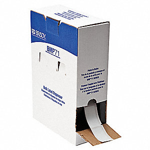 "Self-Laminating Vinyl Label Cartridge, White/Translucent, 1""W x 2-1/2"""