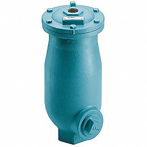 "150 psi Waste Water Air Release/Air Vacuum Valve, 2"" Inlet Size, 2"" Outlet Size"