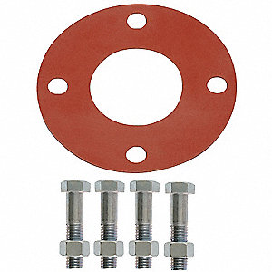 "SBR Blend Gasket, 7-1/2"" Outside Dia., Red"