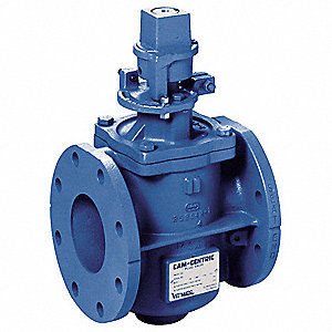 "9""L x 16-1/2""H Cast Iron Flanged Plug Valve, 4"" Pipe Size"