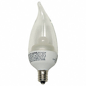 3.5 Watts Clear CA11 LED Lamp, 170 Lumens