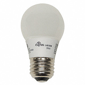 2.5 Watts LED Lamp, A15, Medium Screw (E26), 80 Lumens, 3000K Bulb Color Temp.