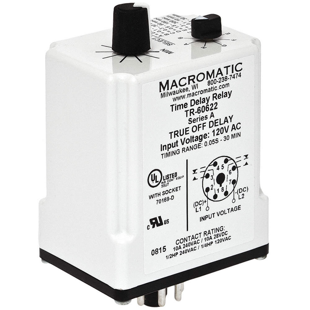 Macromatic Single Function Timing Relay 120vac Dc 10a 240v 8 Dpdt Zoom Out Reset Put Photo At Full Then Double Click