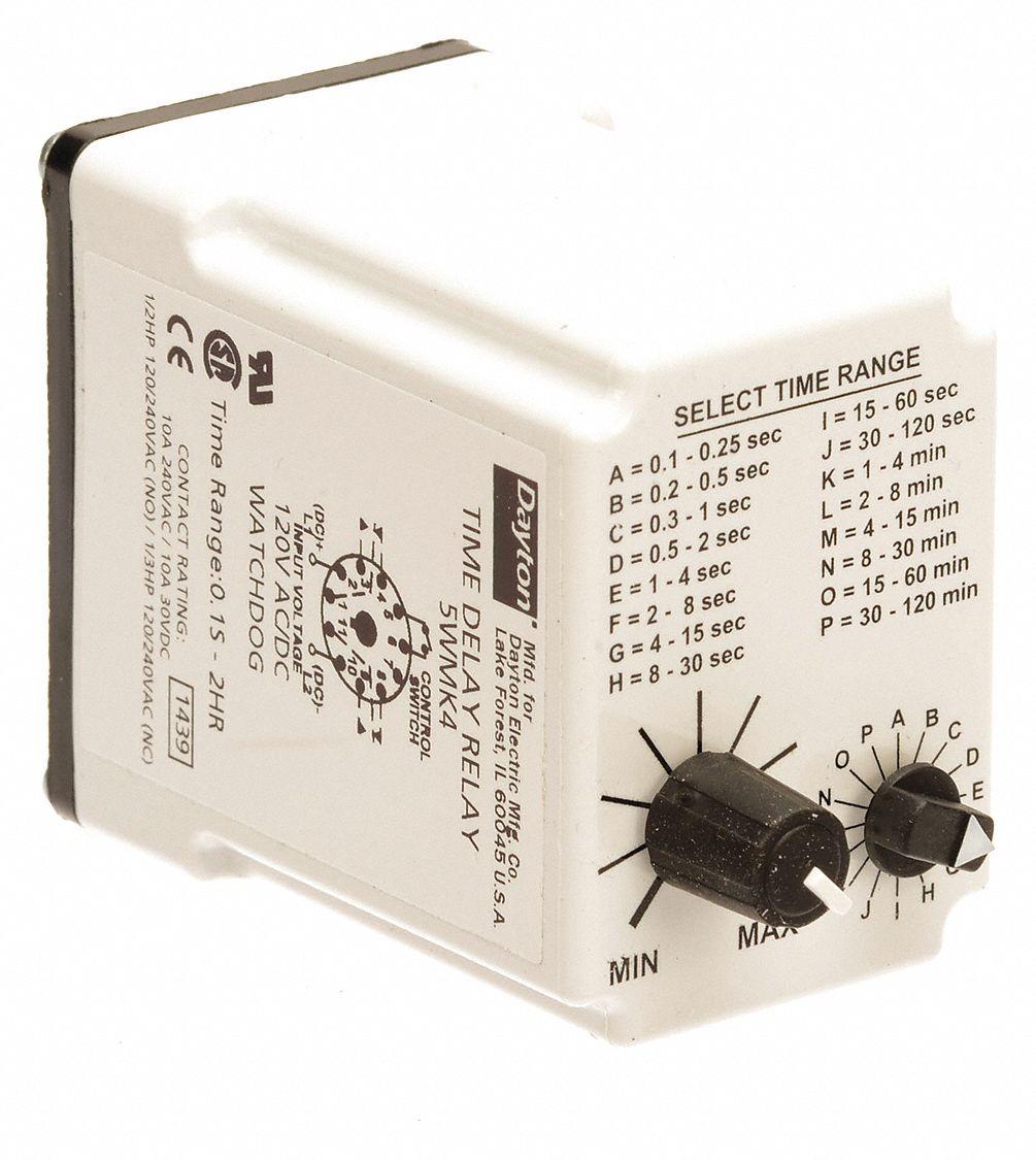 5WMK4_AS01 dayton time delay relay,120vac dc,10a,dpdt 5wmk4 5wmk4 grainger  at eliteediting.co