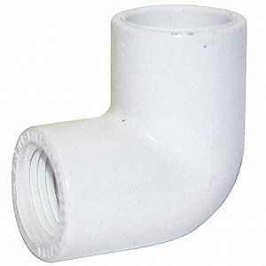 "PVC Elbow, 90°, Socket x FNPT, 1/2"" Pipe Size"