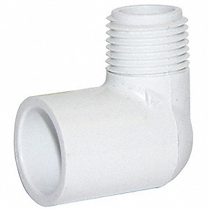 "PVC Elbow, 90°, Socket x MNPT, 1-1/4"" Pipe Size"
