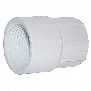 "PVC Adapter, FNPT x Socket, 1"" x 3/4"" Pipe Size"