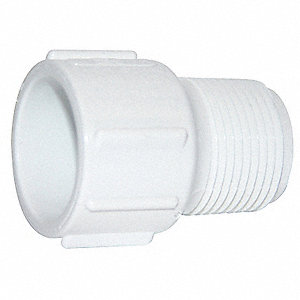 "PVC Adapter, Socket x MNPT, 1/2"" Pipe Size"