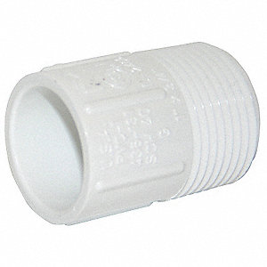 "PVC Adapter, MNPT x Socket, 1"" x 3/4"" Pipe Size"