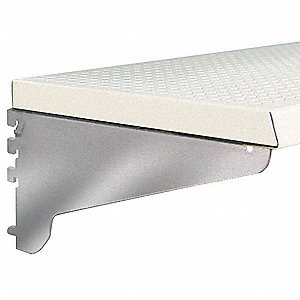 "36"" x 18"" x 1"" 20 Gauge Steel Perforated Shelf, White&#x3b; PK4"