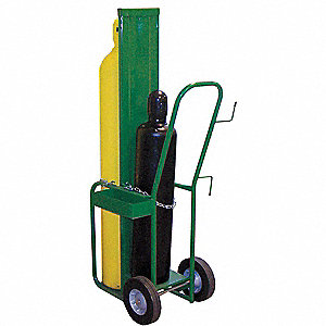 Welding Cylinder Truck. Continuous Frame Flow-Back, 400 lb., Cylinder Capacity 2