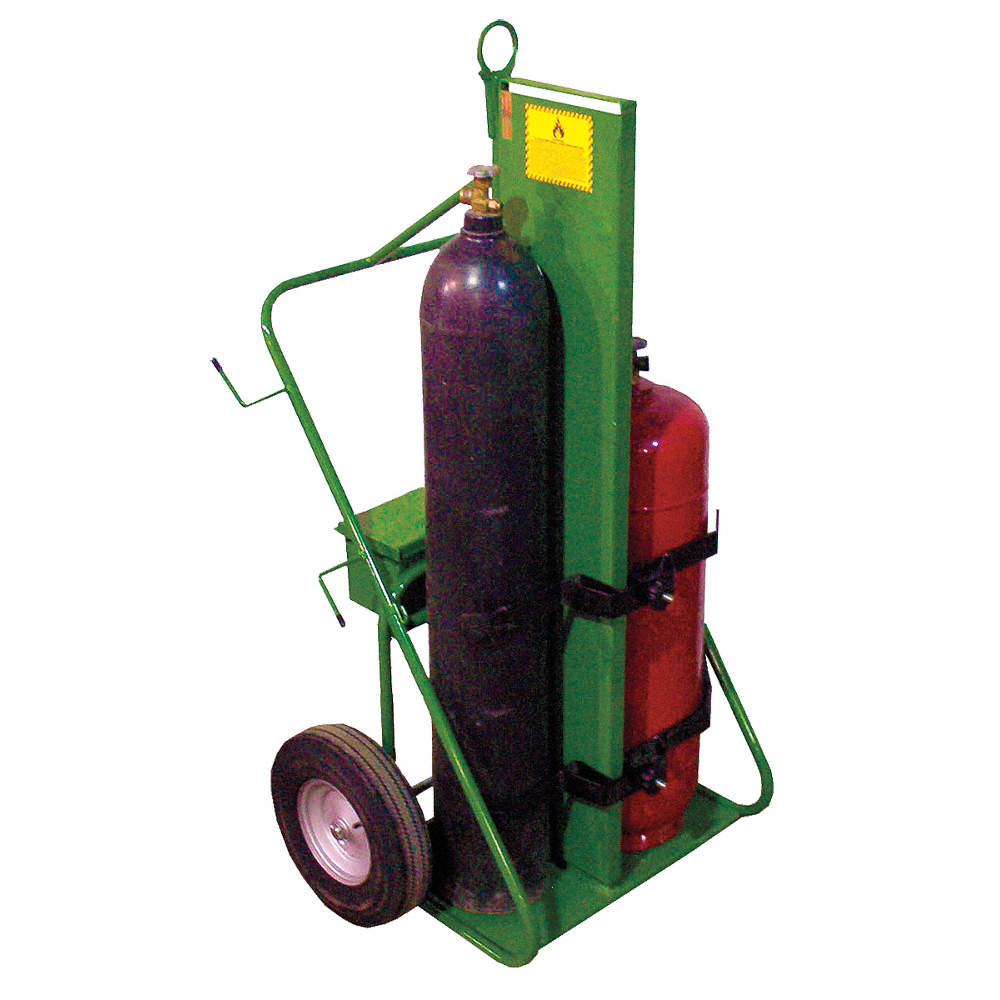 Welding Cylinder Truck,Continuous Frame, 780 lb , Cylinder Capacity 2, 62