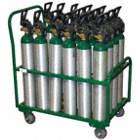 Cylinder Cart,2400lb,17-1/2