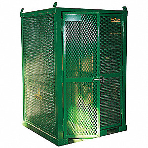 "Vertical Storage, 79"" x 50"" x 50"", Assembled, Green"