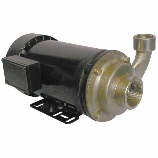 DAYTON 316 Stainless Steel 3 hp HP Centrifugal Pump, 3 ...