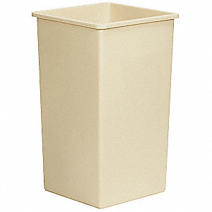 SQUARE WASTE RECEPTACLE, 25 G, BEIG