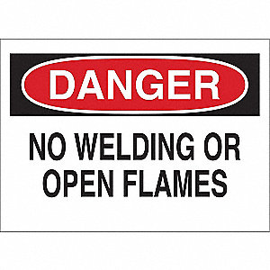 Danger Sign,7 x 10In,R and BK/WHT,ENG