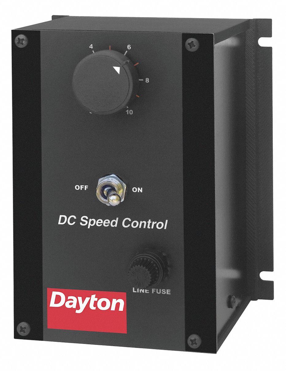 DAYTON DC Speed Control,NEMA 1,0 to 90VDC Voltage Output,2 Max. Amps ...