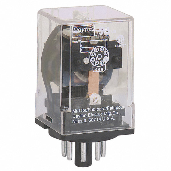 dayton 120vac 8 pin octal base general purpose plug in. Black Bedroom Furniture Sets. Home Design Ideas
