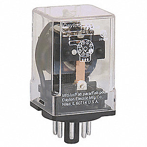 24VDC, 8-Pin Octal Base General Purpose Plug-In Relay; AC Contact Rating: 10A @ 277V
