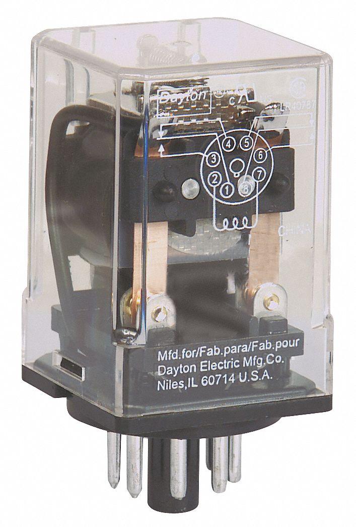 24VAC Coil Volts, General Purpose Relay, 10A @ 277VAC/10A @ 28VDC Contact on