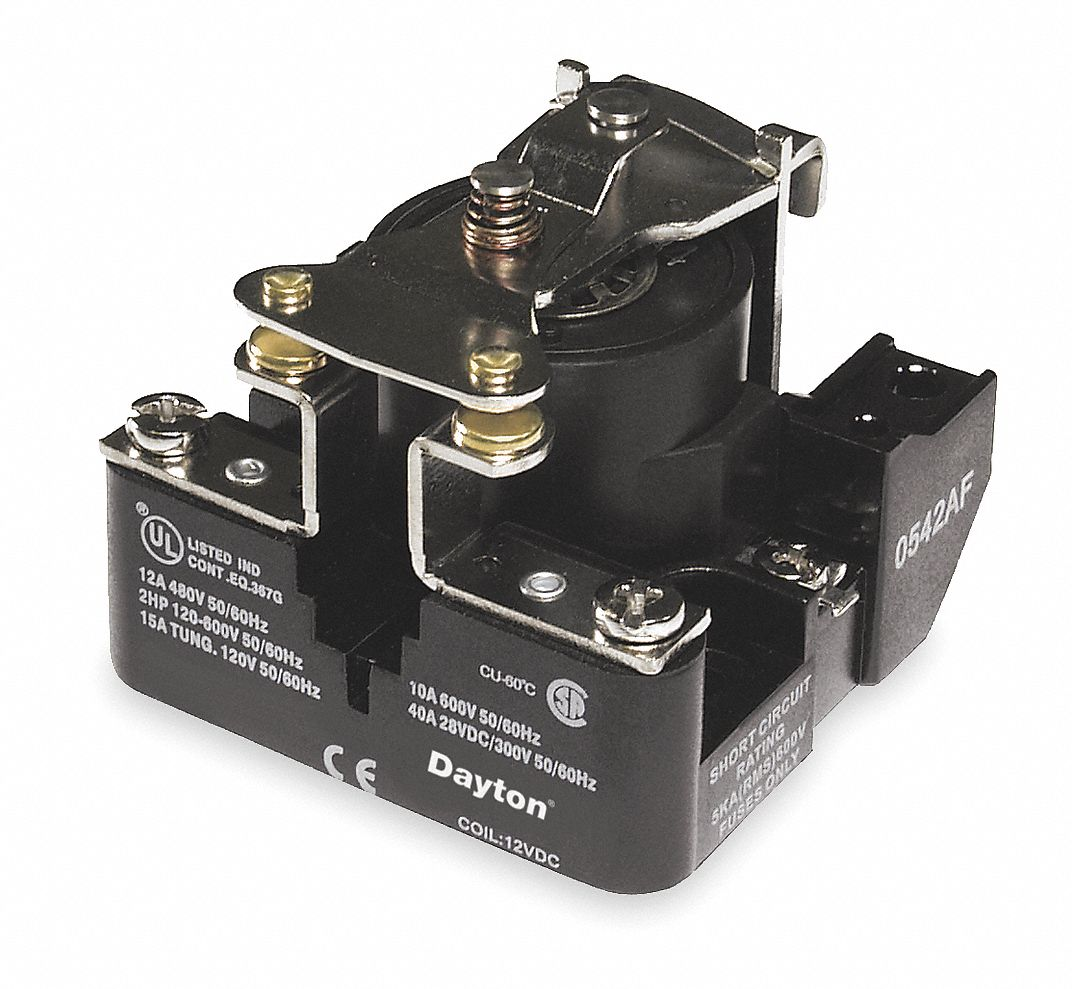 120VAC, 4-Pin Surface Open Power Relay; Electrical Connection: Screw